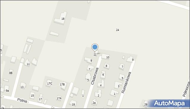 Wilkszyn, Chabrowa, 11, mapa Wilkszyn