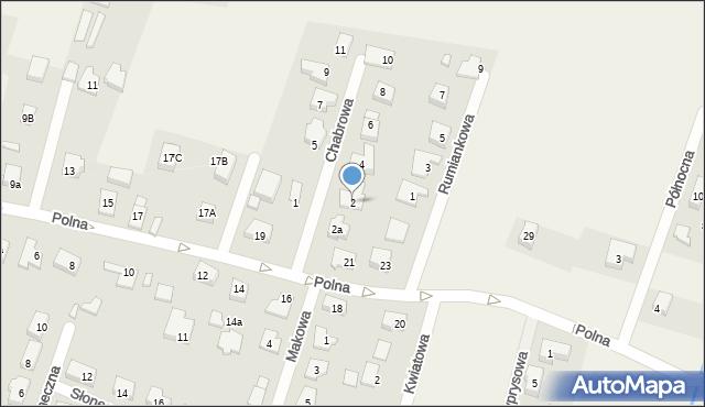 Wilkszyn, Chabrowa, 2, mapa Wilkszyn