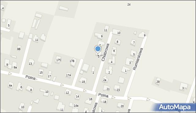 Wilkszyn, Chabrowa, 5, mapa Wilkszyn