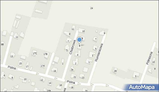 Wilkszyn, Chabrowa, 6, mapa Wilkszyn