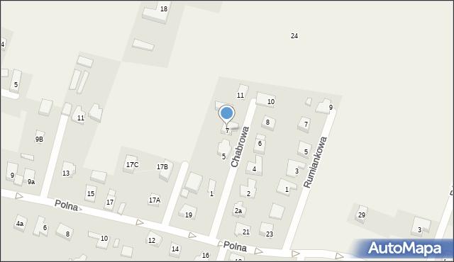 Wilkszyn, Chabrowa, 7, mapa Wilkszyn