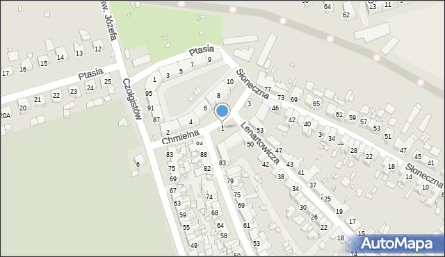 Zabrze, Chmielna, 1, mapa Zabrza