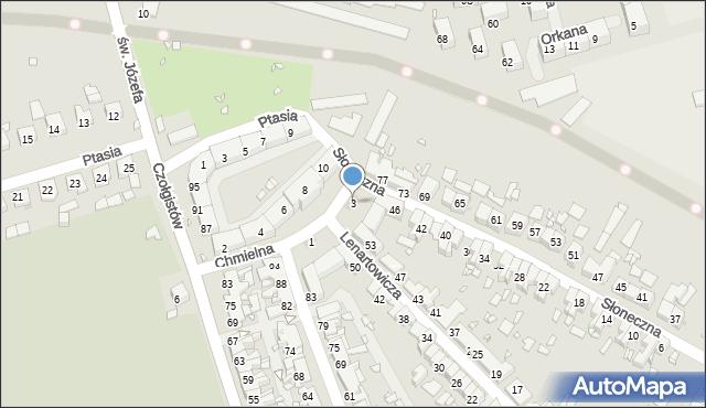 Zabrze, Chmielna, 3, mapa Zabrza