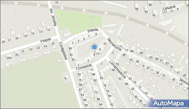 Zabrze, Chmielna, 6, mapa Zabrza