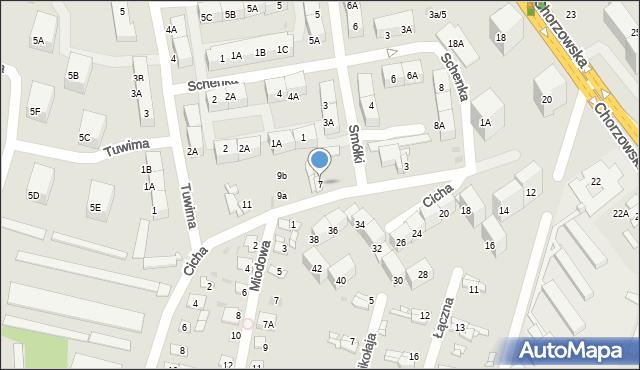 Bytom, Cicha, 7, mapa Bytomia