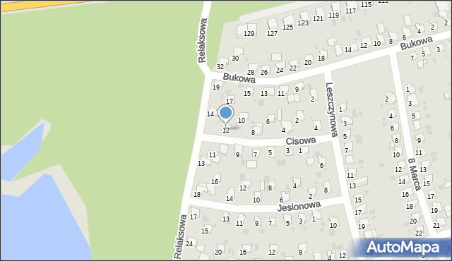 Bytom, Cisowa, 12, mapa Bytomia