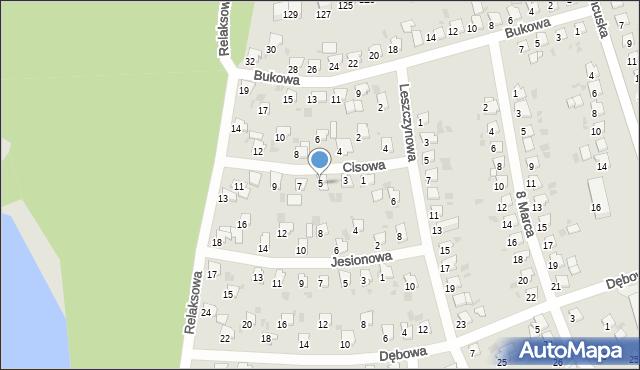 Bytom, Cisowa, 5, mapa Bytomia