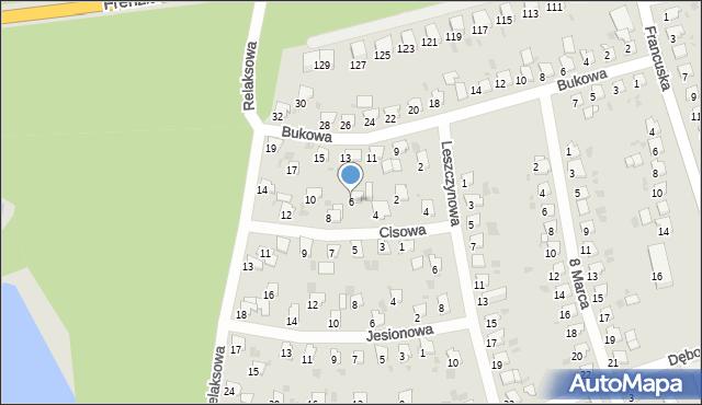Bytom, Cisowa, 6, mapa Bytomia
