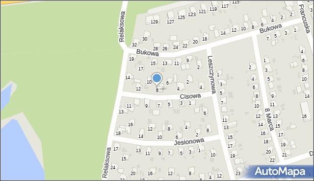 Bytom, Cisowa, 8, mapa Bytomia