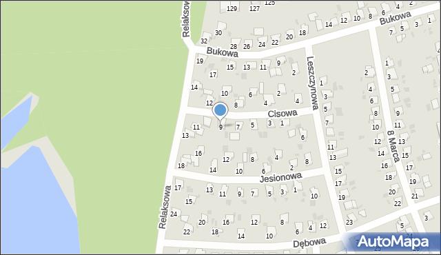 Bytom, Cisowa, 9, mapa Bytomia