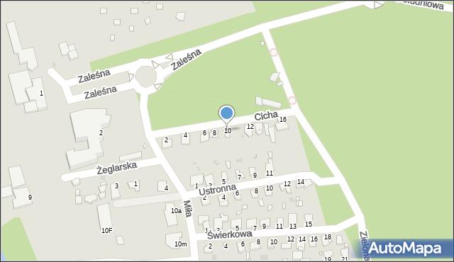 Grudziądz, Cicha, 10, mapa Grudziądza