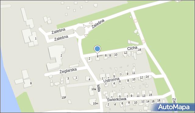 Grudziądz, Cicha, 4, mapa Grudziądza