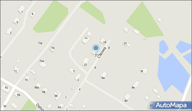 Grudziądz, Cisowa, 17, mapa Grudziądza