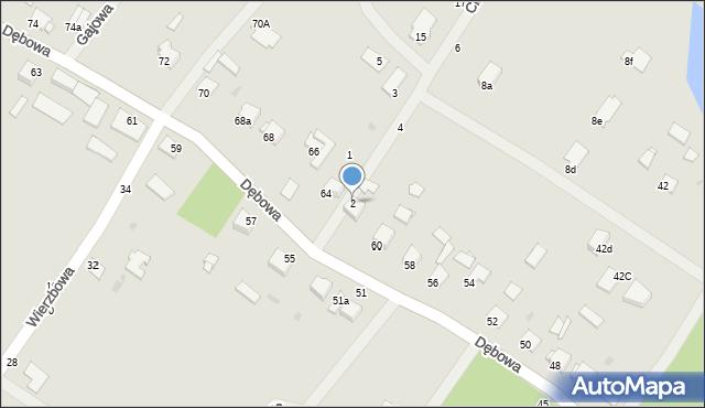 Grudziądz, Cisowa, 2, mapa Grudziądza