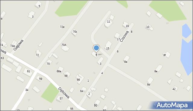 Grudziądz, Cisowa, 5, mapa Grudziądza
