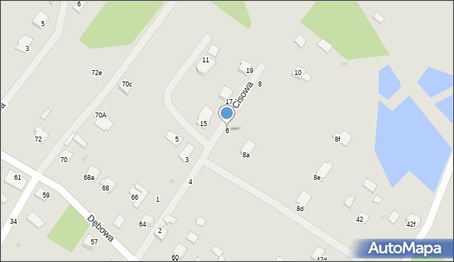 Grudziądz, Cisowa, 6, mapa Grudziądza