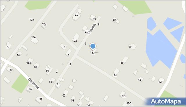 Grudziądz, Cisowa, 8a, mapa Grudziądza