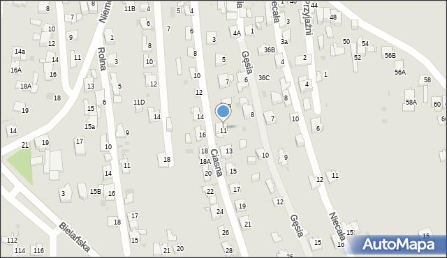 Jaworzno, Ciasna, 11, mapa Jaworzno