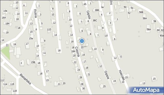 Jaworzno, Ciasna, 13, mapa Jaworzno
