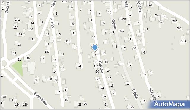 Jaworzno, Ciasna, 16, mapa Jaworzno