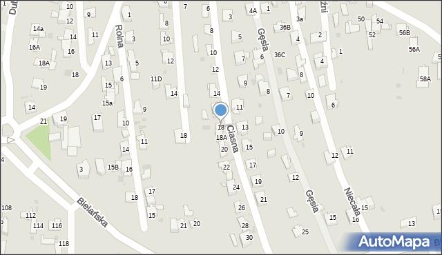 Jaworzno, Ciasna, 18, mapa Jaworzno