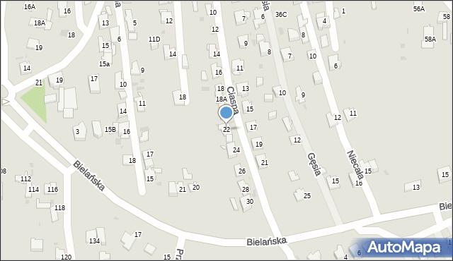 Jaworzno, Ciasna, 22, mapa Jaworzno