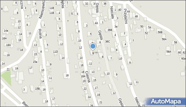 Jaworzno, Ciasna, 9, mapa Jaworzno