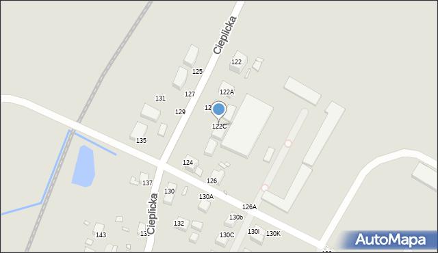 Jelenia Góra, Cieplicka, 122C, mapa Jelenia Góra