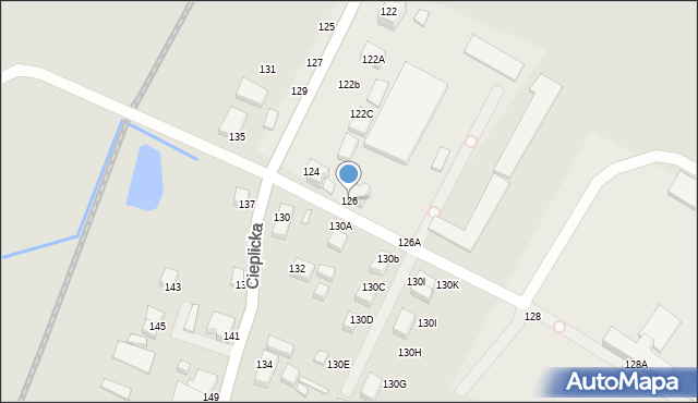 Jelenia Góra, Cieplicka, 126, mapa Jelenia Góra