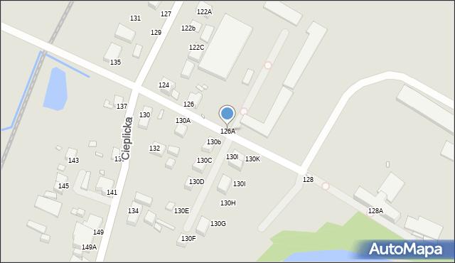 Jelenia Góra, Cieplicka, 126A, mapa Jelenia Góra