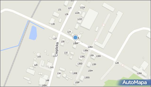 Jelenia Góra, Cieplicka, 130A, mapa Jelenia Góra