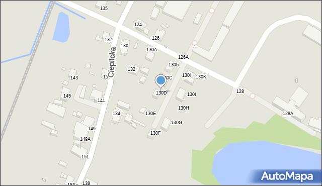 Jelenia Góra, Cieplicka, 130D, mapa Jelenia Góra