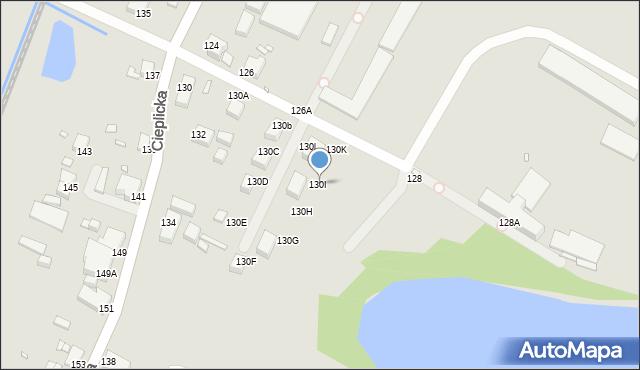 Jelenia Góra, Cieplicka, 130I, mapa Jelenia Góra