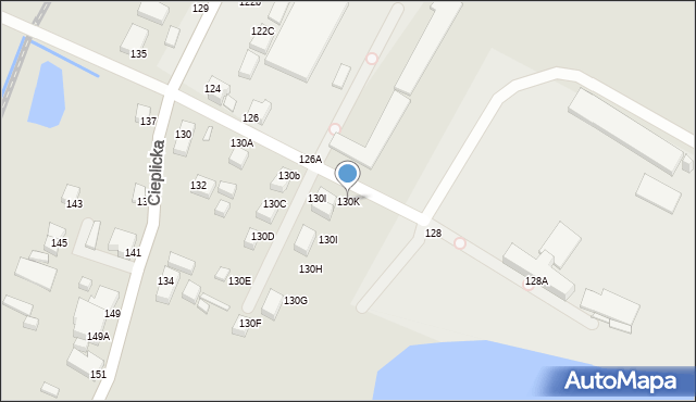Jelenia Góra, Cieplicka, 130K, mapa Jelenia Góra