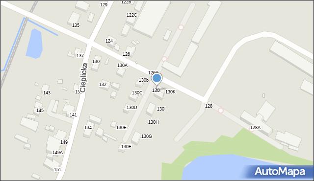 Jelenia Góra, Cieplicka, 130l, mapa Jelenia Góra