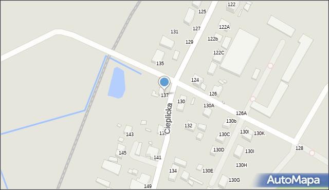 Jelenia Góra, Cieplicka, 137, mapa Jelenia Góra
