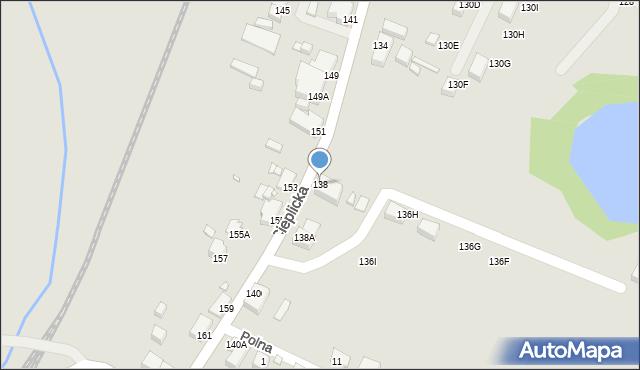 Jelenia Góra, Cieplicka, 138, mapa Jelenia Góra