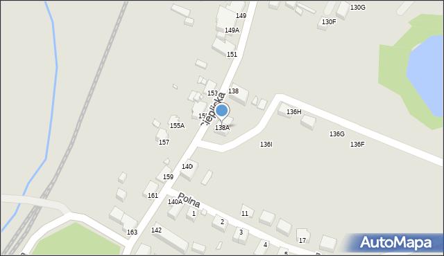 Jelenia Góra, Cieplicka, 138A, mapa Jelenia Góra