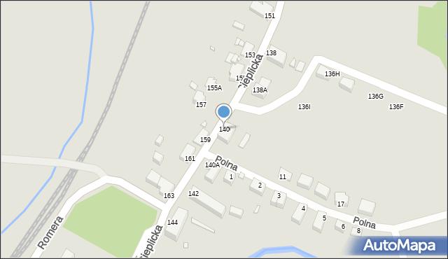 Jelenia Góra, Cieplicka, 140, mapa Jelenia Góra