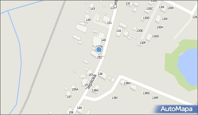 Jelenia Góra, Cieplicka, 151, mapa Jelenia Góra