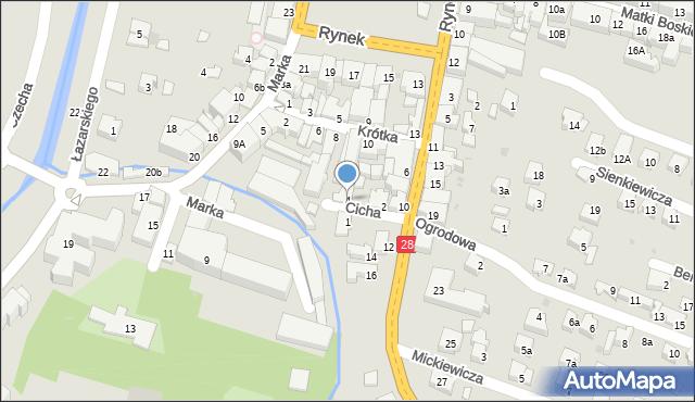 Limanowa, Cicha, 4, mapa Limanowa