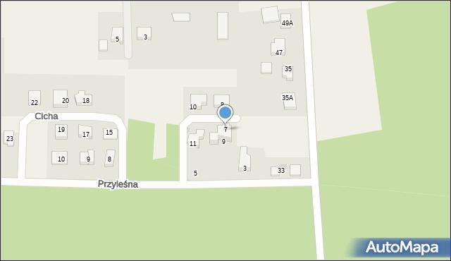 Luzino, Cicha, 7, mapa Luzino