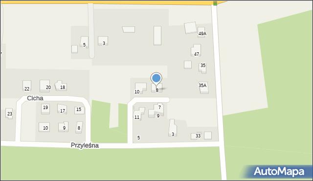 Luzino, Cicha, 8, mapa Luzino