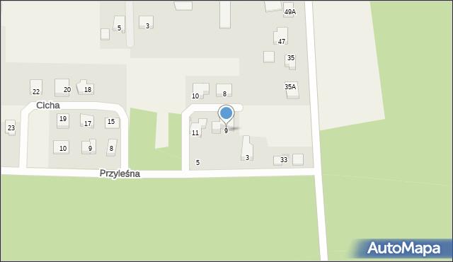Luzino, Cicha, 9, mapa Luzino
