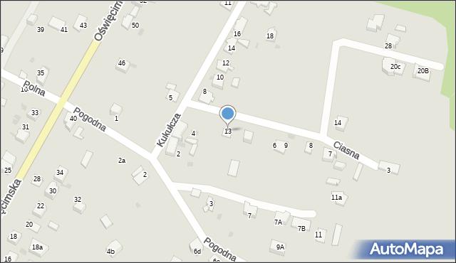 Mikołów, Ciasna, 13, mapa Mikołów