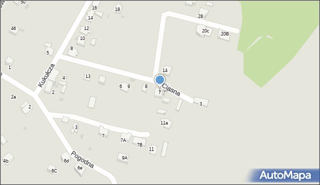 Mikołów, Ciasna, 7, mapa Mikołów