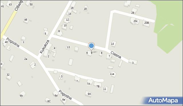 Mikołów, Ciasna, 9, mapa Mikołów