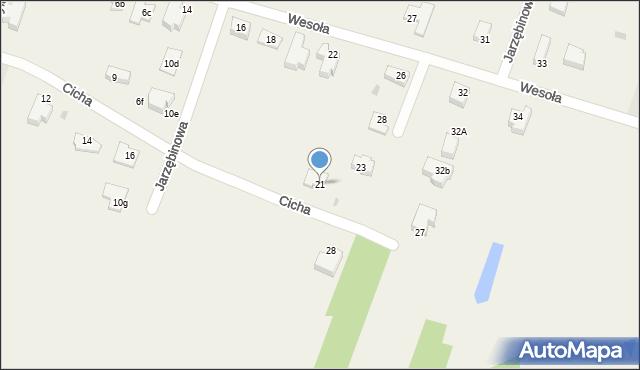 Pokrówka, Cicha, 21, mapa Pokrówka