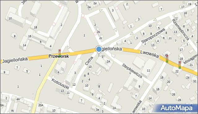 Przeworsk, Cicha, 3, mapa Przeworsk