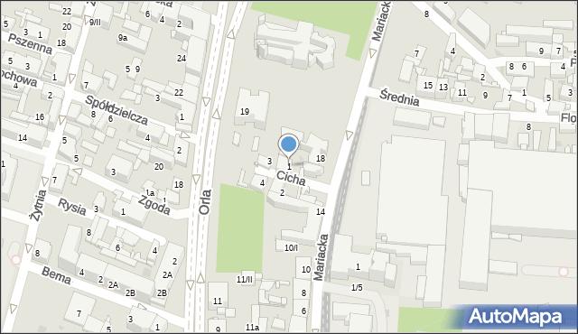 Sosnowiec, Cicha, 1, mapa Sosnowca